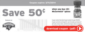 hannaford coupon