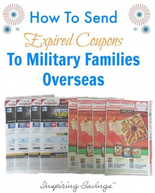 Don't throw away the expired coupons! Put them to use by sending to overseas military who can use them for 6 months after the expiration date!