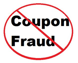"Text ""Coupon Fraud"" in a circle crossed out"