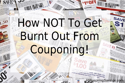 Couponing Tips like these will help you to stay on track for savings without feeling pressure or burn out! Follow our tips to save money & your sanity!