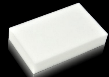 Magic eraser on black top