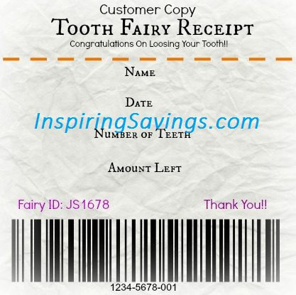 When a child starts to lose their baby teeth it can be an exciting time. Give them a receipt that can help with providinga fun memorable experience. Get your Free Printable Tooth Fairy Receipt! Such a fun idea for kids!