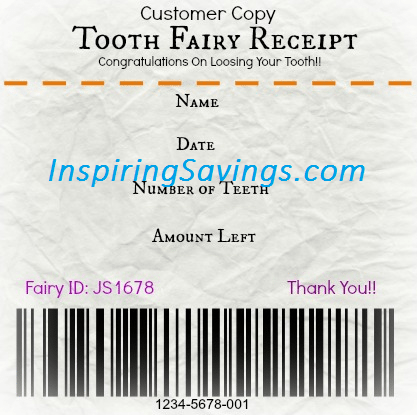 When a child starts to lose their baby teeth it can be an exciting time. Give them a receipt that can help with providing a fun memorable experience. Get your Free Printable Tooth Fairy Receipt! Such a fun idea for kids!