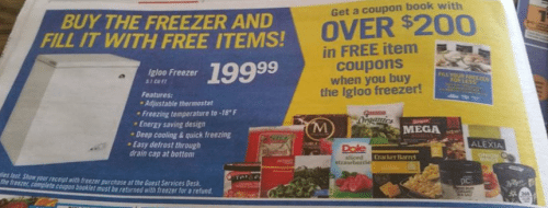 Price Chopper in ad promotion for Chest Freezer