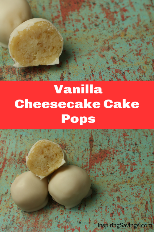 These deliciously creamy No-bake vanillaCheesecake pops are SO tasty. Great for any occasion and freezable until ready to serve. #cakepops srcset=