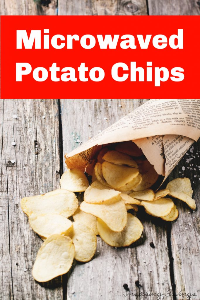Did you know that you can make perfectly crisp potato chips in the microwave? In just a matter of a few minutes, you can make homemade healthy microwave sea salt potato chips. Perfect addition for your lunch or mid-day snack.