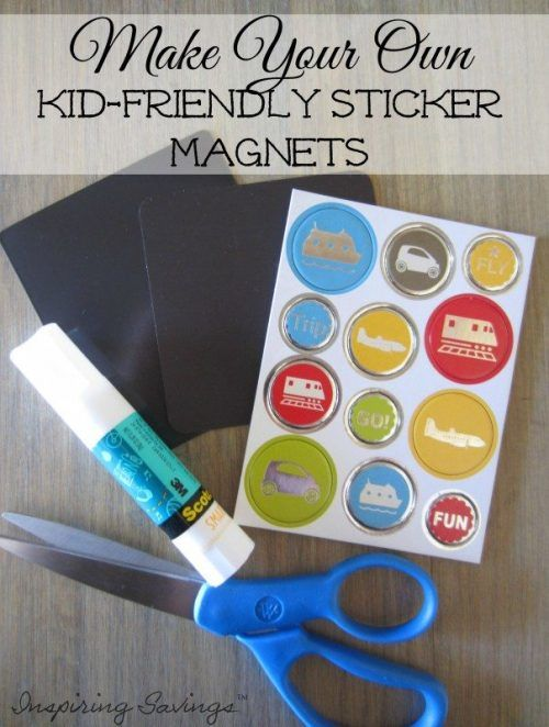 homemade sticker refrigerator magnet craft for kids