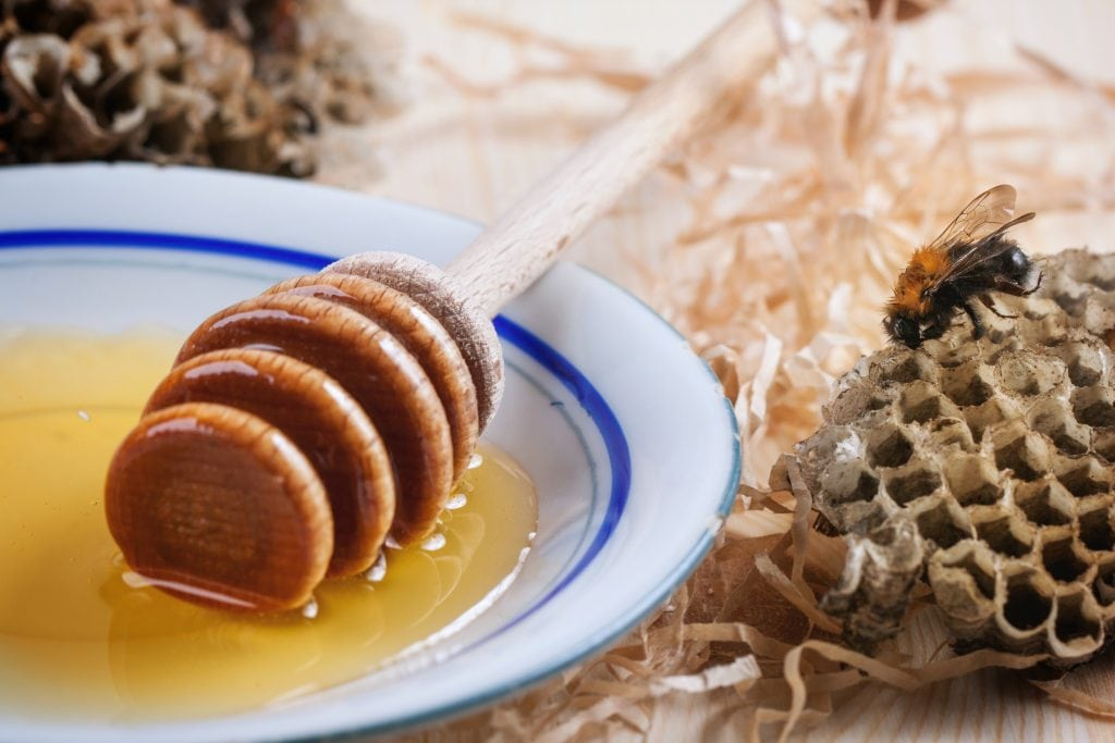 Natural Honey on Plate