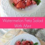 This watermelon feta salad recipe is a combination of juicy watermelon and fragrant cheese great for a cookout or side dish
