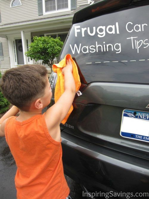Father's day is just around the corner. Give your favorite dad a great gift, plus learn some frugal car washing tips. Dad will be so surprised. By using some everyday items and a little common sense, you can clean your car better than your local body shop ever could. #carhacks #fathersday #car
