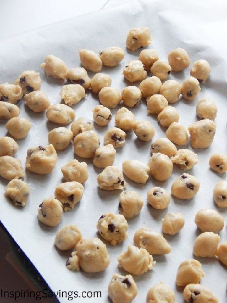 No Churn Cookie Dough Ice Cream - cookie dough balls