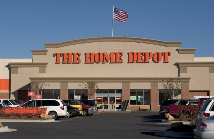Outside the home depot