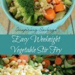 The kids just got home you just got home and yet you have to head out to another sports event in a few hours. So what is for dinner Easy Weeknight Vegetable Stir Fry of coarse.