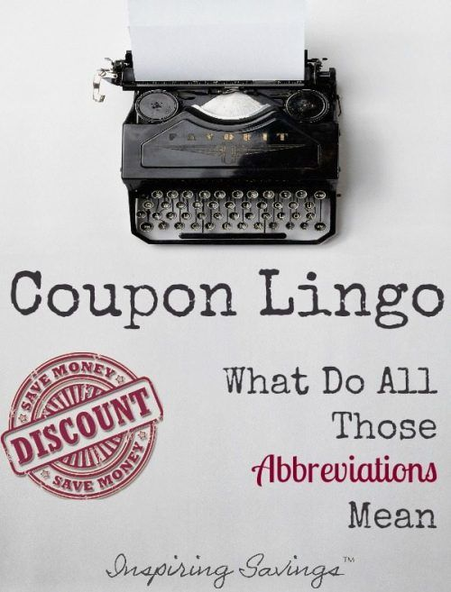 "Pictured a Typewriter with text overlay ""Coupon Lingo"""