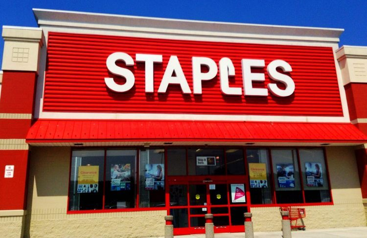 Outside Staples - price matching