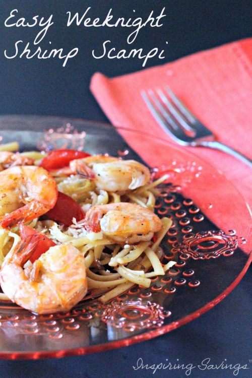 Everyone around my house loves these types of delicious pasta dishes! You will enjoy this Easy Shrimp Scampi Recipe. A simple & quick meal! Just a few easy steps and dish. Perfect for those busy weeknights! Made with Garlic, Red Pepper and Pasta.