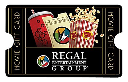 Regal Theaters Movie Gift Card