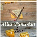 Check Out these Super adorable Mini Pumpkin Pies made with cheese crackers. SO CUTE right