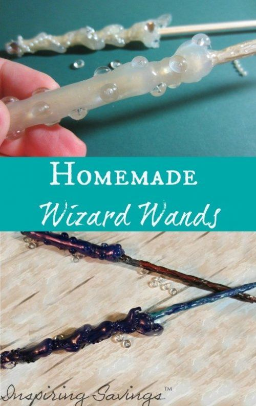 Completed realistic homemade wizard wands