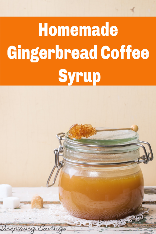 This is my fall time go to addition for tea or coffee. Stir in a teaspoon or two of this homemade gingerbread coffee syrup and you are set. Love gingerbread flavor? It is all you need to flavor your pancakes, coffee, tea or crepes!
