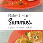 Baked Ham Sammies... A great recipe for left overs