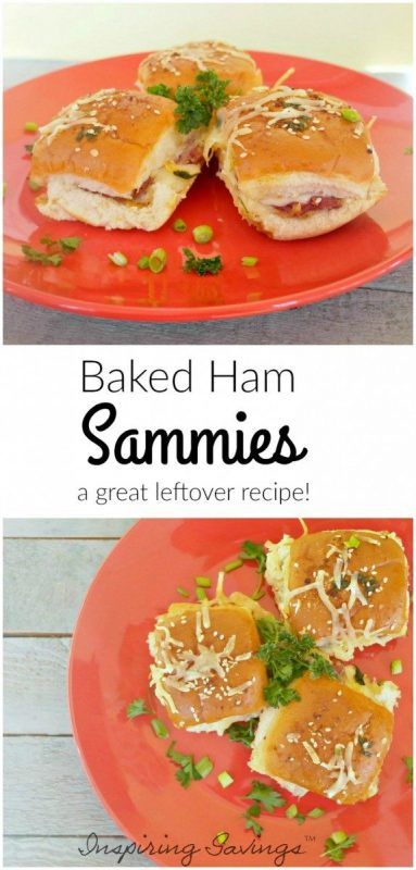 Baked Ham Sandwiches are the best. This simple recipe is ideal for using leftover ham or making a simple ham sandwich upscale and fun to eat! Now it's time to rock the leftovers. These delicious little delights are great for a picnic, a party, a main dish or just a snack.  #ham #sandwiches #recipes #quickmeals
