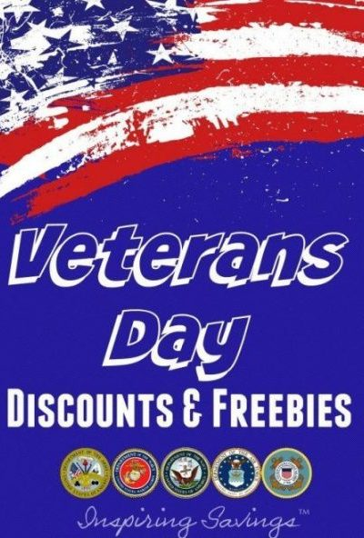 Here is a nice list of all the Veterans Day Discounts and Freebies you can enjoy e1509372363356