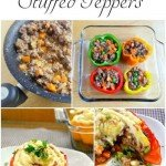 here is a fun twist on TWO different recipes. Stuffed Peppers and Shepards Pie