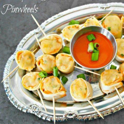 Cheesy Buffalo Chicken Pinwheels - Appetizer