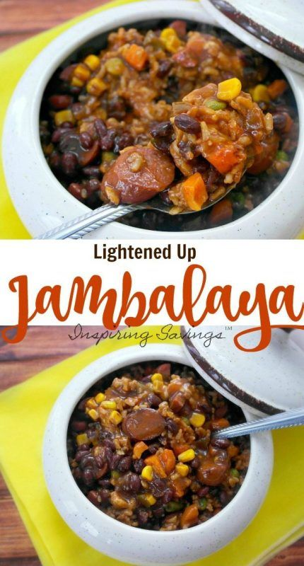 Healthier Cajun Sausage Jambalaya Pictures on collage