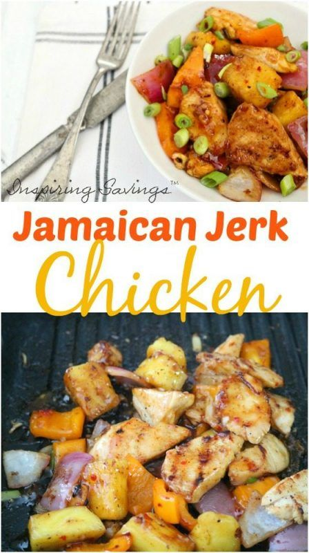 Jamaican Jerk Chicken Recipe picture collage