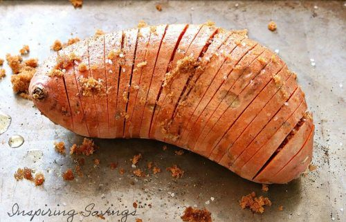 Hasselback Sweet Potatoes with Brown Butter & Maple are sure to be a hit at your next dinner party! This delicious side dish wows a crowd every time!