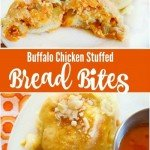 Looking for an amazing SNACK or Appetizer. You are going to want to try out this Buffalo Chicken Stuffed Bread Bites