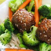 Ginger Garlic Pork Meatballs