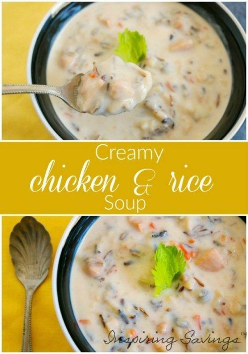 Creamy Chicken & Rice Soup