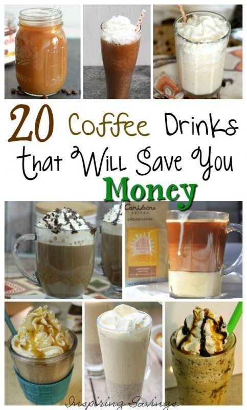 Love fancy Coffee drinks but hate the price. Check out this great list of coffee drinks that will help you save some cash