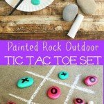 So much FUN Check out this DIY Tic Tac Toe Game for outdoor fun this summer It is perfect for birthday parties or an activity to do with your kids. Get the kids involved.