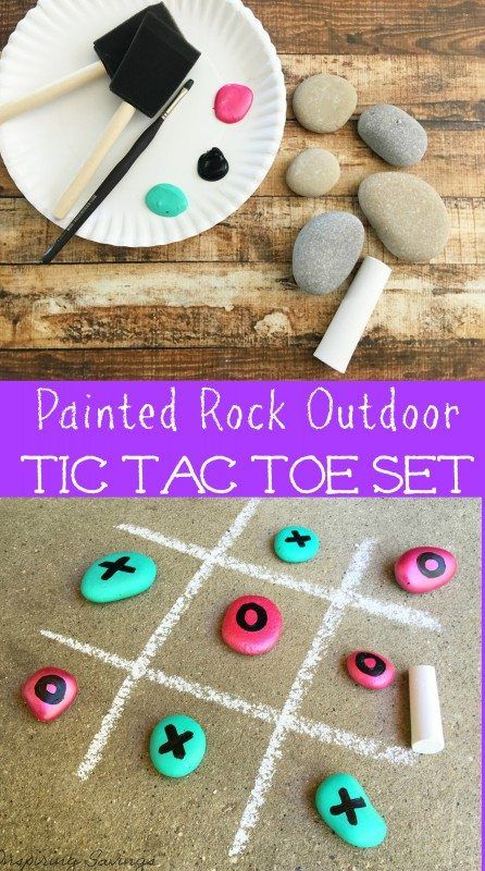 So much FUN! Check out this DIY Tic Tac Toe Game for outdoor fun this summer! It is perfect for birthday parties or an activity to do with your kids. Get the kids involved.