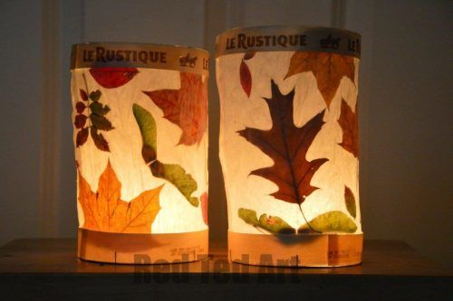 making candle lanterns