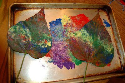 making leaf prints