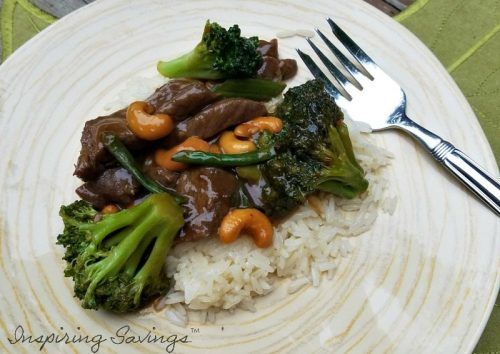 finish meal - orange beef & brocolli