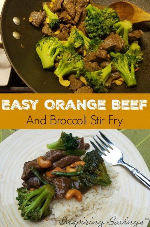 This Easy Orange Beef and Broccoli Stir Fry is loaded with lots of flavor and color. Taste much better than take out and is healthier for you. So delicious and satisfying and ready in less than 25 minutes!