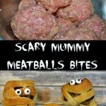 It comes but once a year. Make these super special Scary Mummy Meatballs Bites for your next Halloween Party or better yet created them for a special dinner
