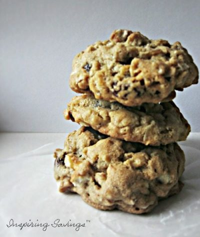 Stacked Oatmeal Pretzel Cookies