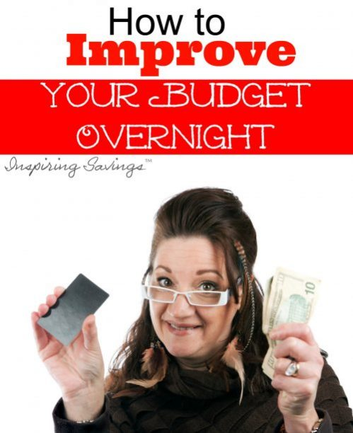 woman holding money with text overlay - How to improve your budget overnight