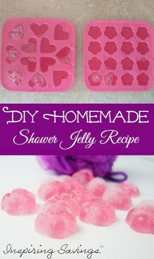 Love Homemade DIY beauty ideas? You can make your own Easy Shower Jelly DIY Recipe. Not only are they fun to make, but it a rewarding. Get a SPA experience at home! Perfect gift for moms, teachers and more.
