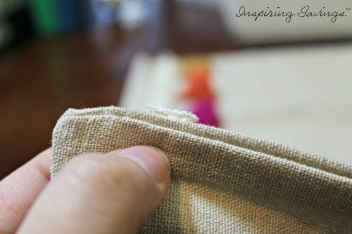 Edges of pillows, using glue to close seams