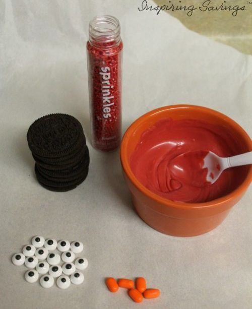 items needed to make elmo cookies