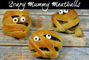 Scary Mummy Meatballs!