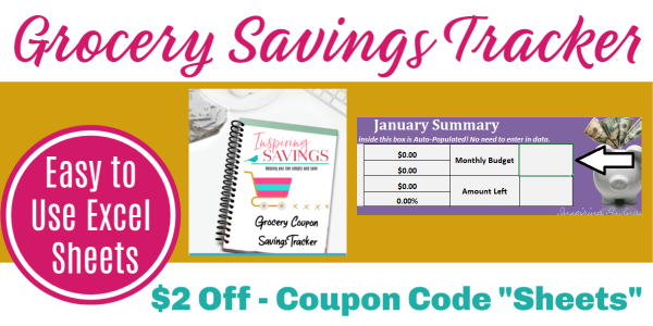Grocery Coupon Savings Tracker - See All Your Savings At A Glance